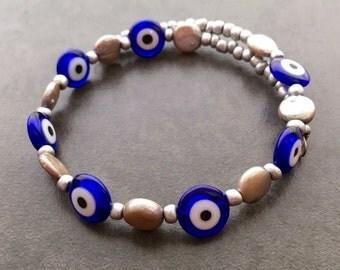 Evil Eye Mini Spiral Bracelet