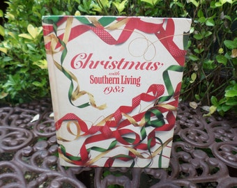 Vintage 1985 Hardcover Christmas with Southern Living-Oxmoor House Holiday Craft/Cookbook-155 Pages