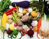 Set of vegetables - leek, carrot, parsley, eggs, strawberries, apricot, garlic, beetroot, lime, lemon