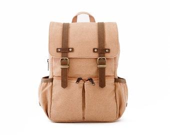 lightdays diaper bag backpack canvas backpack blue by oliday. Black Bedroom Furniture Sets. Home Design Ideas