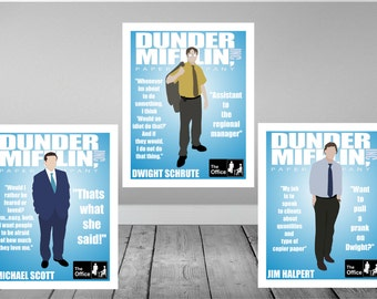 The Office Minimalist Print set
