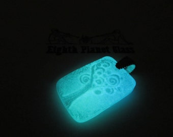 Todash Tree - Glow in the Dark Glass Necklace Pendant