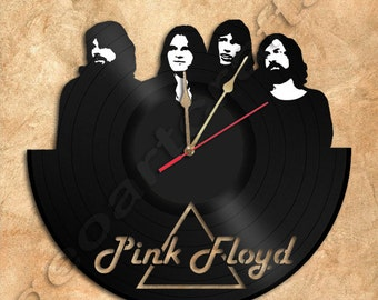 Pink Floyd Vinyl Record Clock Upcycled Gift Idea