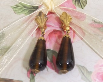 Vintage Glass Dangle Earrings