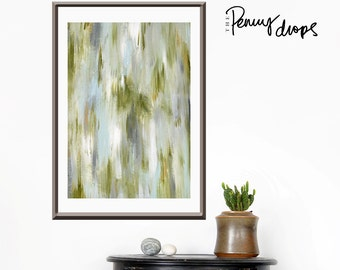 Green painting, jungalow style, original painting, Pantone, ikat art, tribal style, fertility art, abstract green art, spring painting