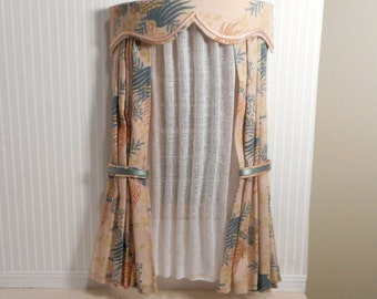 Made-to-order, Dollhouse drapery with valence, drapes and sheers.