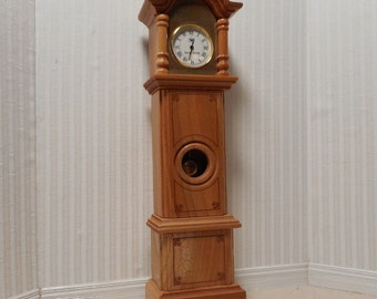 Working miniature Grandfather Clock 1:12 scale.