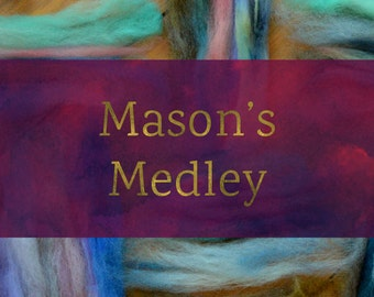Mason's Medley Stash Buster - Combed Top and Roving Spinning Fiber Tutorial - Handspun Yarn Tutorial