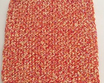 Buy 3 get 1 free. Multi Orange Dish cloth/Wash cloth- Clearance priced