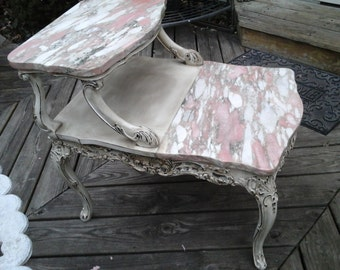 paris chic marble side table