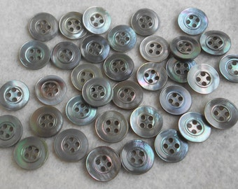 Group of 70 Vintage Gray Mother of Pearl Buttons-Item#155