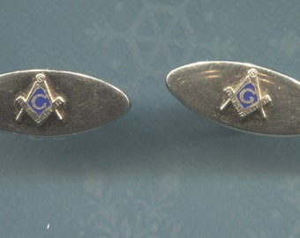 Vintage Pair of Gold Mason Cuff Links - (Z17)