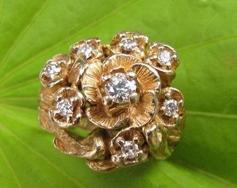 DEADsy LAST GASP SALE Bouquet : Vvs Eight Diamond Engagement Ring, near One Carat Diamond Ring tcw