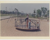 Vintage Snapshot Photo: Kids' Playground, 1965 (68494)