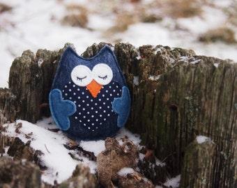 Kids felt Owl Brooch, Owl Pin, Wool Brooch, Felt Owl, Kids Brooch, Kids Gift, Handmade