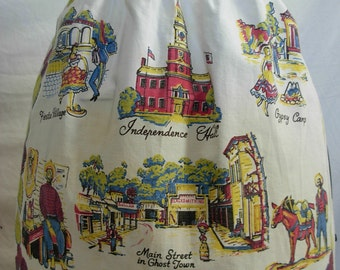 White Vintage Apron Advertisement Souvenir