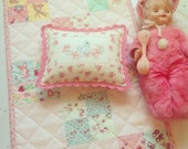 Custom hand quilted patchwork doll quilt