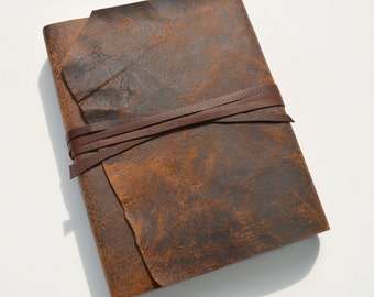 Custom Order Leather Journal Notebook Bound Planner Travel Diary (497B)