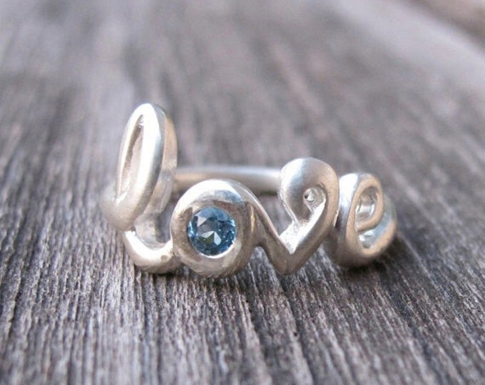 Sapphire Love Ring- Ruby Rings- Love Silver Rings- Sapphire Rings- Gemstone Rings- Bestfriend Rings- Promise Rings- Stone Rings