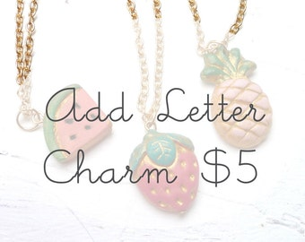 Letter Charm for Fruit Necklace Add On