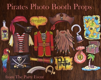 Pirate photo booth props - arrrrrrr - perfect for a pirate party or pirates of the caribbean bash/Jack and the Netherland Pirates