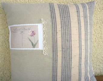 Linen cushion and transfer postcard