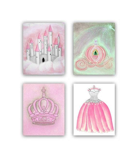 Grey Girl Wall Decor : Baby girl nursery pink grey decor princess by