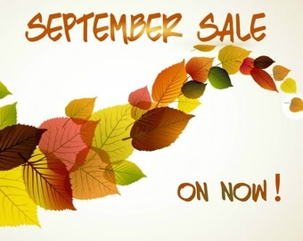 SEPTEMBER SALE On NoW!