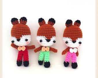 Crochet Amigurumi, Crochet Animal, Amigurumi animal,Crochet doll, Amigurmi in handmade Amigurumi Fox,Crochet Fox