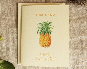 Pineapple Thank You Card Wedding Set of 20