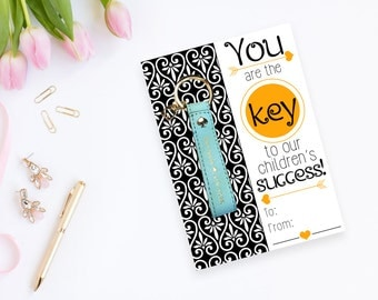 You Are The Key To Our Children's Success - Teacher Appreciation Week Key Fob Gift - DIY Instant Digital Download Printable