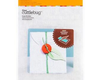 HAPPY BIRTHDAY - CUTTLEBUG 5x7 EMBOSSiNG FoLDER -  New in Pkg.