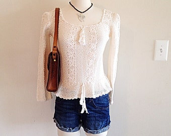 Beautiful Boho Crochet Summer Sweater