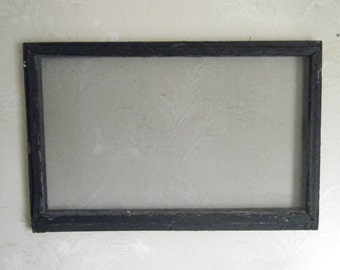 Antique window screen display hanging