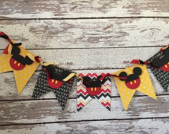 Mickey inspired banner, Mickey Mouse banner, Mickey banner, banner, Disney inspired, Disney, birthday banner