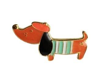 ANIMAL | Cute Sausage Dog Enamel Pin