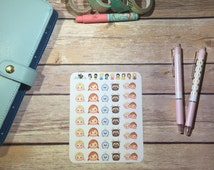 Tsum Tsum Frozen Planner Stickers ~ Disney Inspired   Life Planner   EC   Erin Condren   Limelife   Inkwell   Plum   Kikki   Decorative  