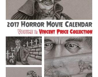 2017 Vincent Price Calendar, Digital Download