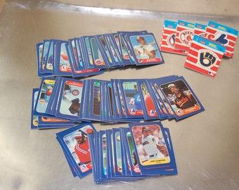Vintage 1986 Fleer Corp Mini baseball trading cards.  lot of 100+