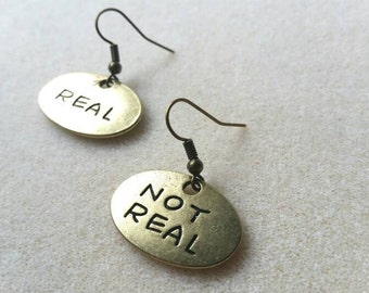Real / Not Real Hunger Games Inspired Earrings