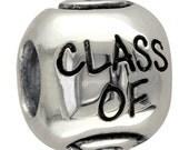 Graduation Class of 2016 Charm Bracelet Bead in Sterling Silver