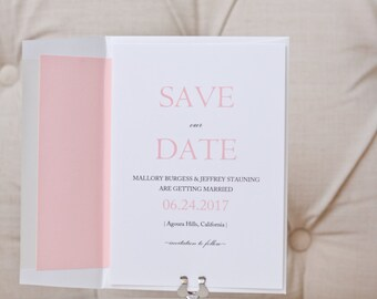 Save the Date Cards- Save Our Date- Spring Wedding -Wedding Paper Goods-Summer Wedding - Blush Save the Dates - Set of 50
