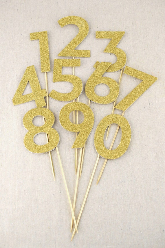 Gold table numbers wedding decorations centerpiece