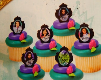 24 Disney The Descendants Ring Cupcake/Cake topper Party Supply/ Licensed