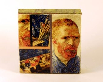 Vincent van Gogh - Self Portrait As An Artist, 1888  -  Original Art with Mixed Construction Technique.