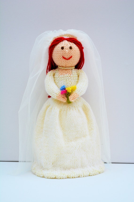Bride Doll, Toy Knitting Pattern, Knit Doll, Doll Knitting ...