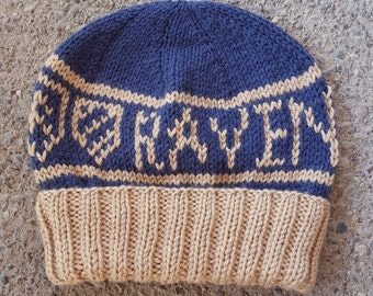 Ravenclaw Hogwarts House Beanie -- Made to Order