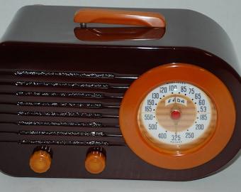 FADA 1000 Catalin Antique Tube Radio - Bullet - Clean Art Deco Styling See & Hear Video