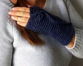 Navy Blue Gloves . Finger...