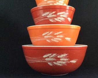 Vintage Harvest Autumn orange pyrex set